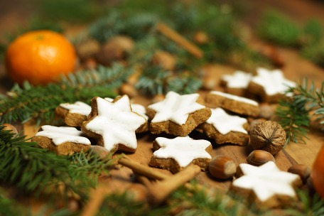 Cinnamon Stars with icing