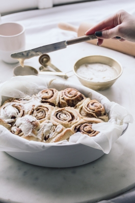 Cinnamon buns are better with icing