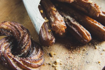 Cinnamon Sugar Churros (courtesy of Huib Schoiten from Unsplash)