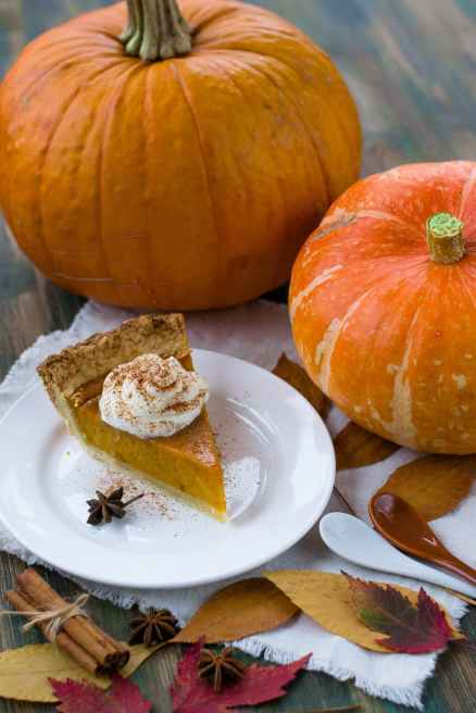 Old-fashioned pumpkin pie