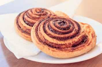 Warm, buttery cinnamon rolls